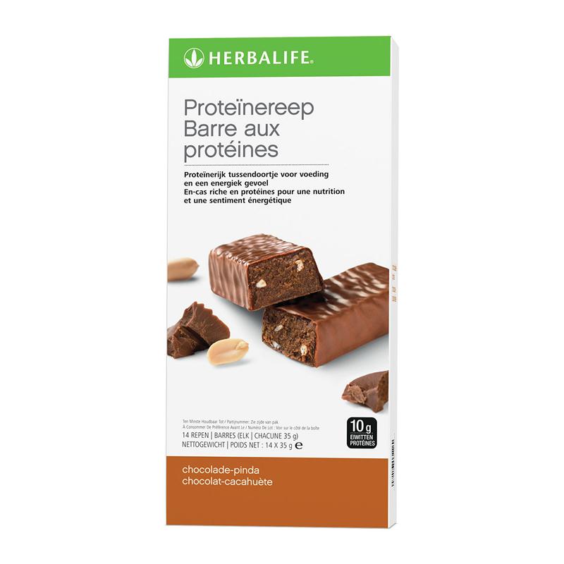 Proteïnereep chocolade pinda