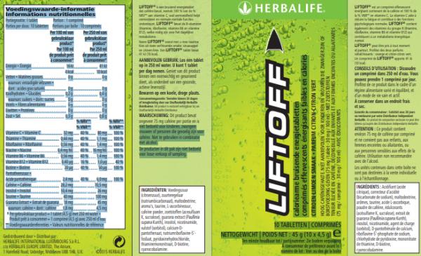 Lift Off® bruisende energiedrank citroen